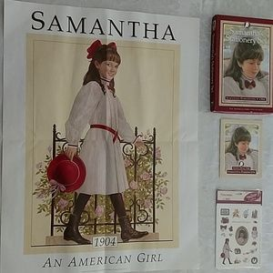 American Girl Samantha stationary, stickers,poster